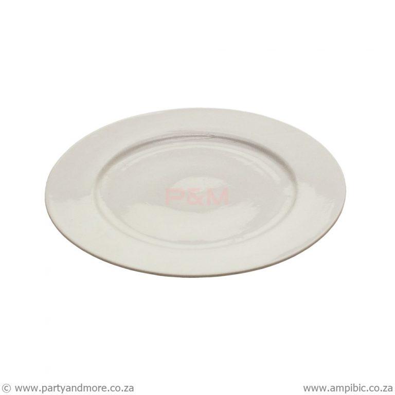 Dinner Plates Round Cream