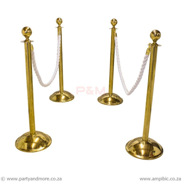 Stanchion Poles - Gold