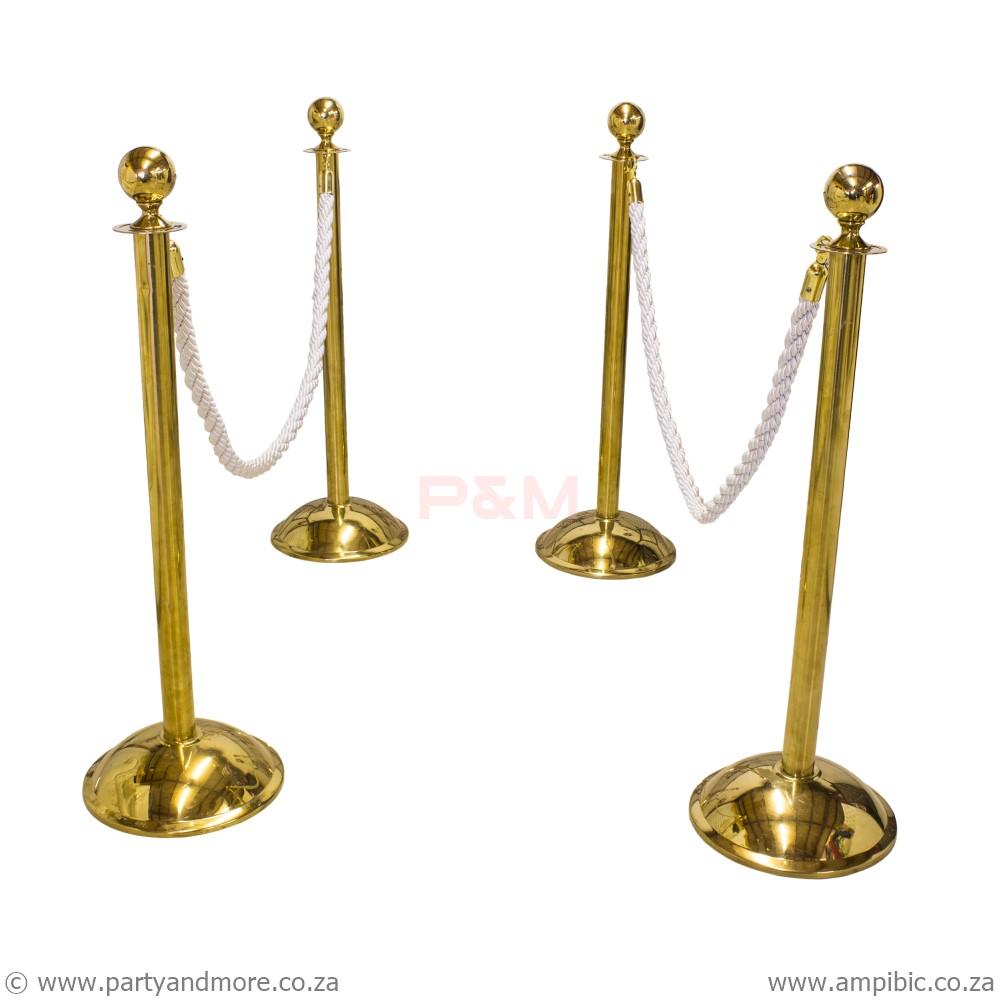 Stanchion Poles - Gold