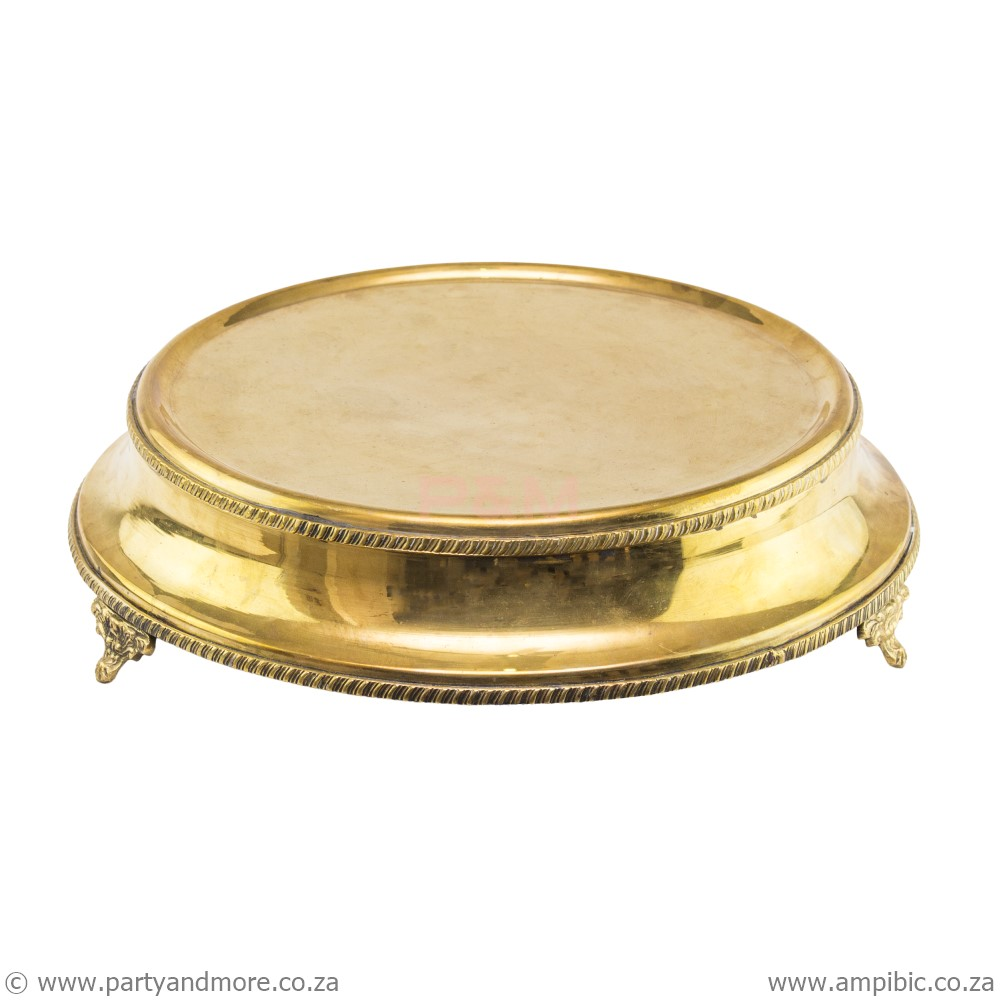 Cakestand round gold