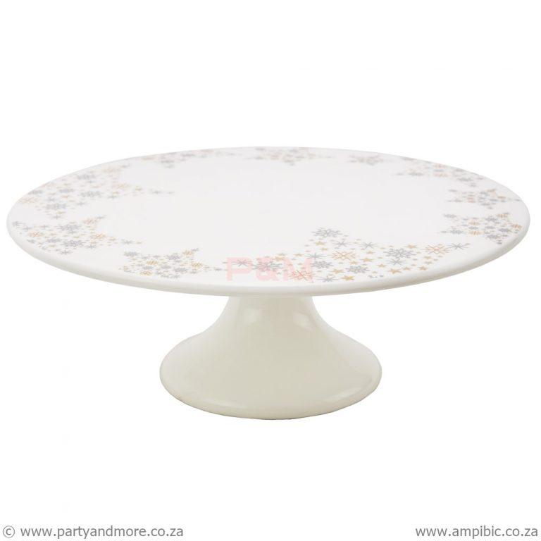 Cakestand round ceramic