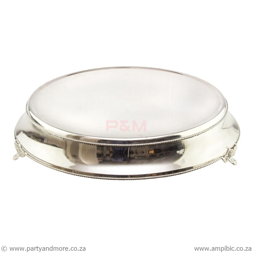 Cakestand round silver