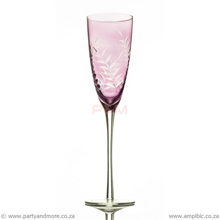 Pink Delux Champagne Flute glass