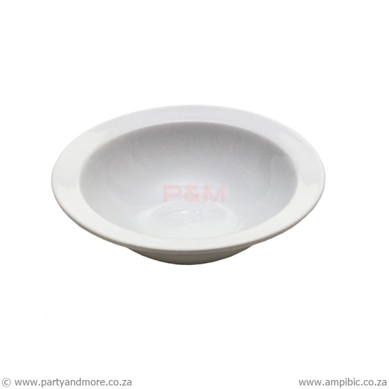 Pudding Bowl - round white